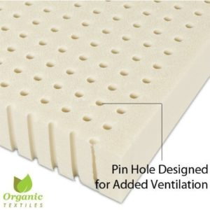 OrganicTextiles 100% Natural Latex Mattress Topper